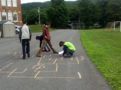 student chalk tree 2