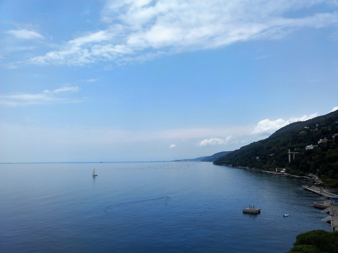 view from conference center in Trieste