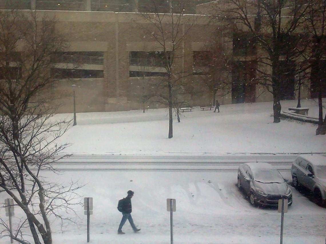 Notre Dame snowstorm